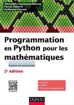 Vente Livre Numérique : Programmation en Python pour les mathématiques - 2e éd.  - Pascal Chauvin - Alexandre Casamayou-Boucau - Guillaume Connan