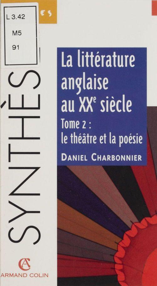 La litterature anglaise au xxe s t.2 n.5