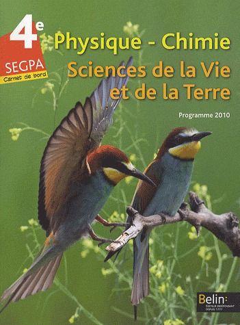 Physique-Chimie ; 4eme ; Segpa ; Livre De L'Eleve