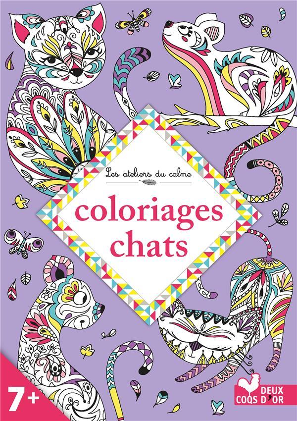 les ateliers du calme ; coloriages chats