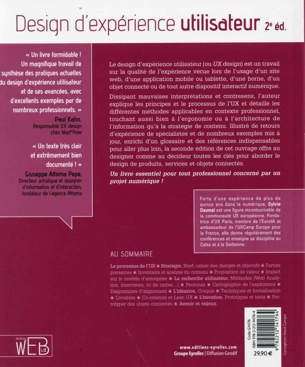 Design d expérience utilisateur ; principes et méthodes UX (2e édition)