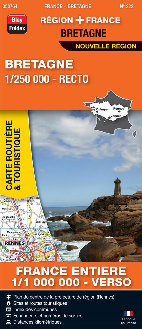 Carte routière & touristique N.222 ; Bretagne