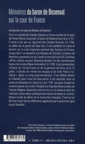 Mémoires du baron de Besenval sur la cour de France