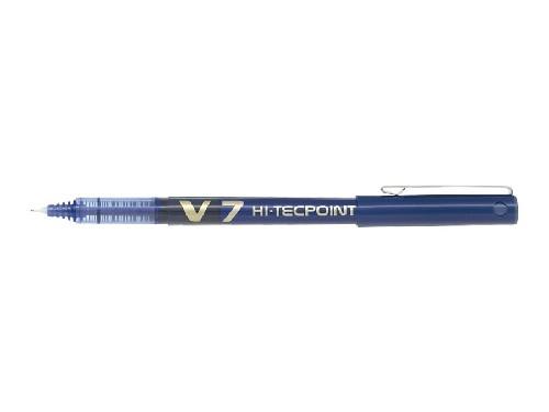 Roller encre liquide - PILOT® - Hi-Tecpoint V7 - Bleu - Pointe moyenne