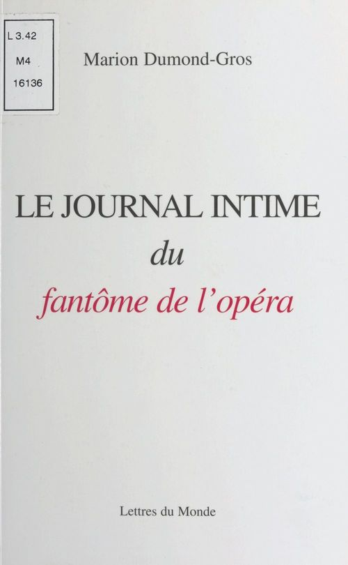 Le Journal intime du fantôme de l'Opéra