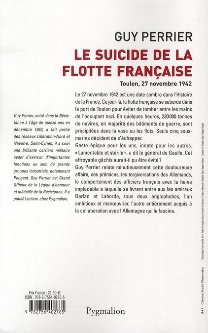 le suicide de la flotte française
