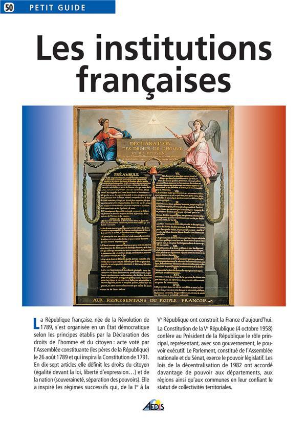 Les institutions françaises