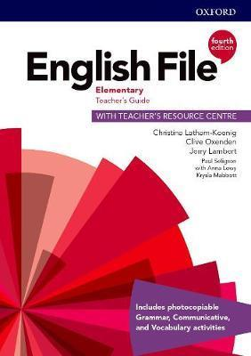 English file: 4th edition elementary. teacher's guide with teacher's resource centre  (pack)