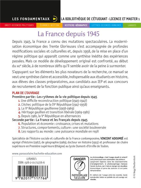 la France depuis 1945 (2e édition)