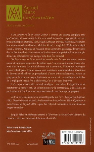 L'état-monde ; libéralisme, socialisme et communisme à l'échelle globale