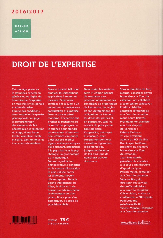 Droit et pratique de l'expertise (édition 2016/2017)