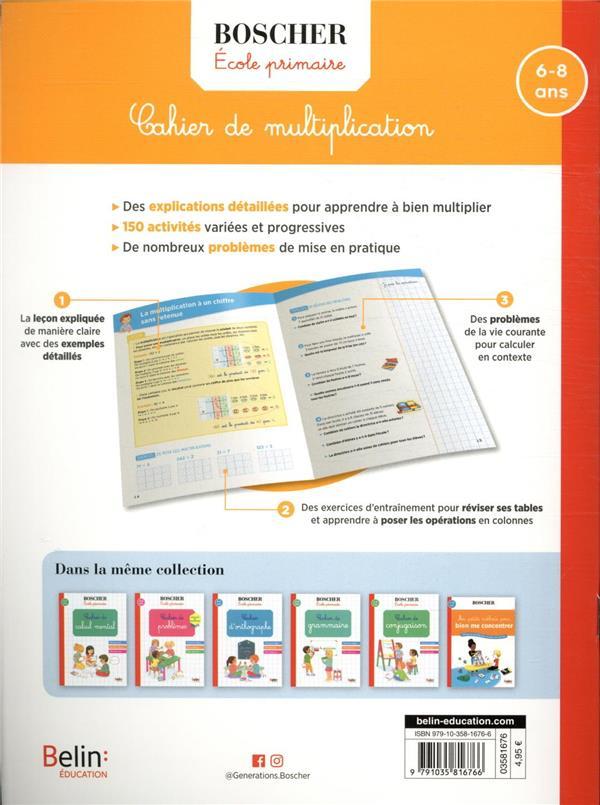 Cahier de multiplication