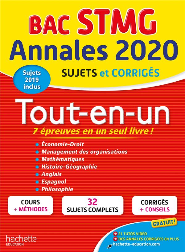 Annales bac ; sujets et corrigés ; bac STMG ; tout-en-un (édition 2020)
