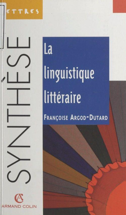 La linguistique littéraire