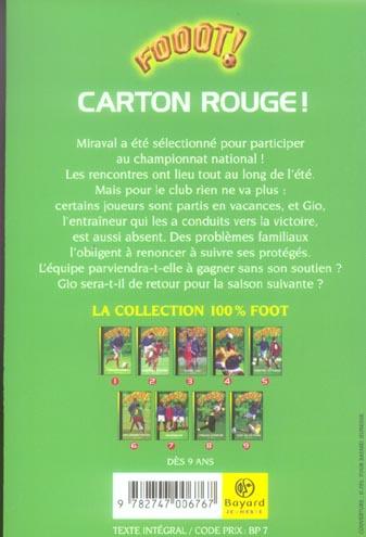 fooot! ; carton rouge