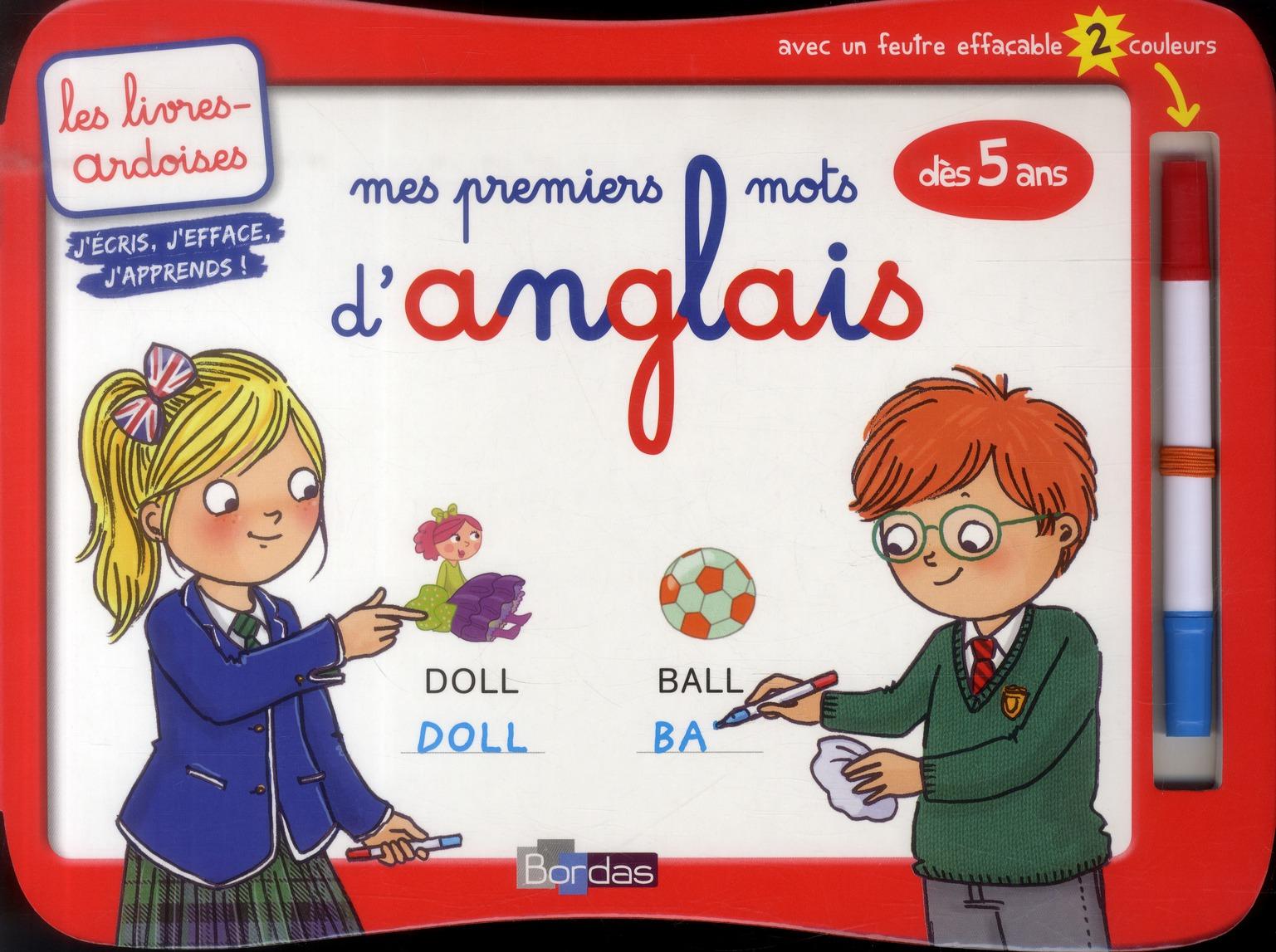 Les livres-ardoises ; mes premiers mots d'anglais ; dès 5 ans