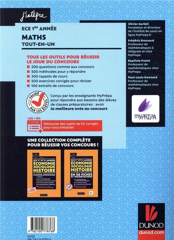 mathématiques ECE