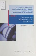 Vente Livre Numérique : Association Médecins sans frontières  - Cour des comptes