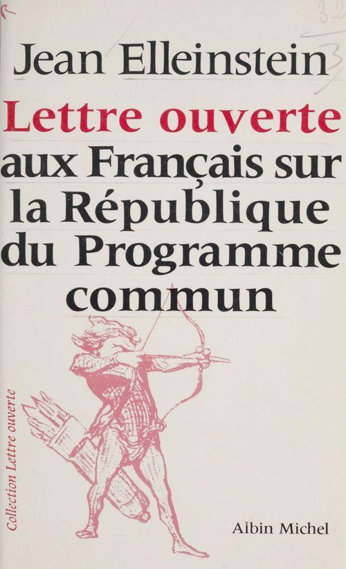 lettre ouverte aux francais sur la republiq