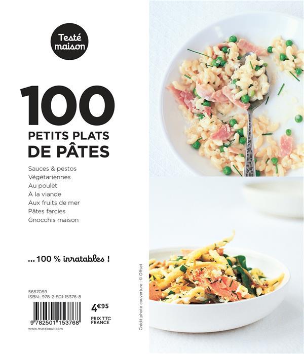 Les petits Marabout ; 100 petits plats de pâtes