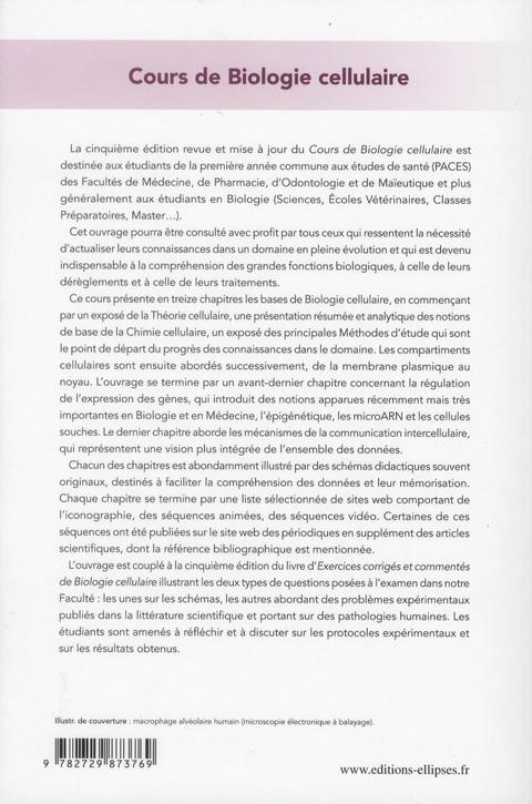 cours de biologie cellulaire - 5e edition