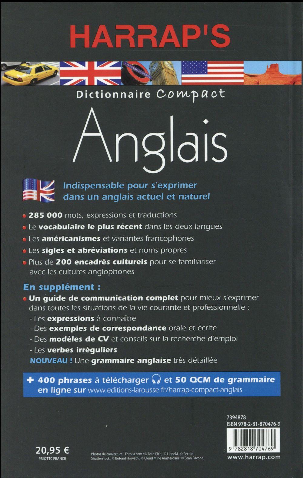 Dictionnaire Harrap's compact ; anglais-français / français-anglais (édition 2016)