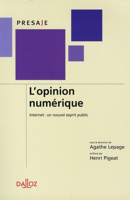 l'opinion numérique ; internet : un nouvel esprit public