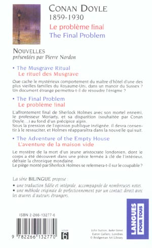 Le problème final ; the final problem