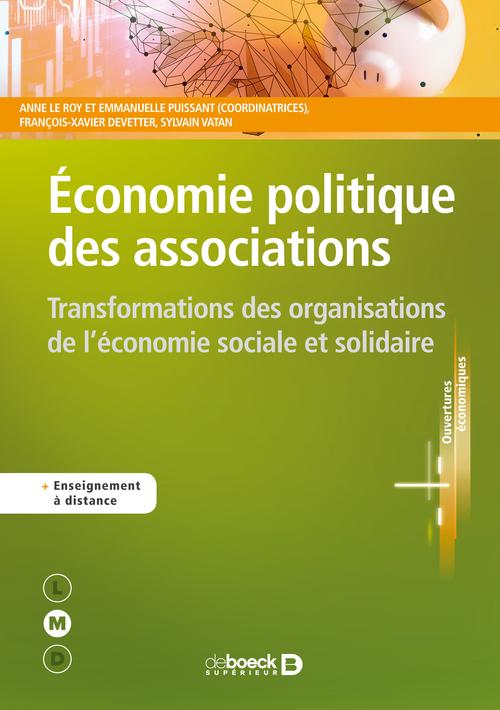 économie politique des associations ; transformations des organisations de l'économie sociale et solidaire