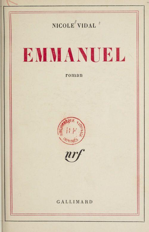 Emmanuel ou le livre de l'homme