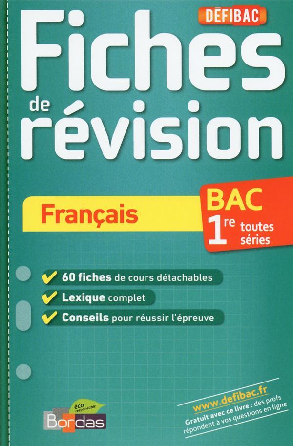 Francais ; 1ere S ; Fiches De Revision