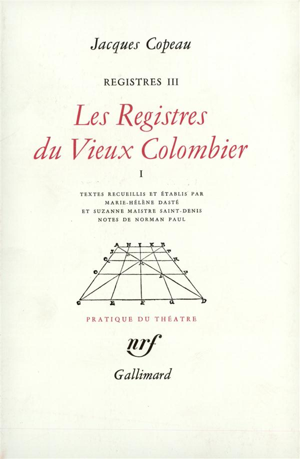 Registres - iii, iv et v - les registres du vieux colombier - vol01