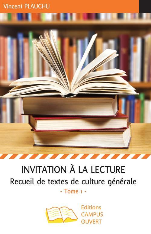 Invitation à la lecture (Tome 1)