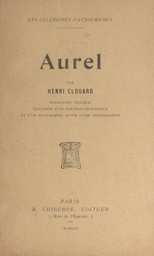 Aurel  - Henri Clouard