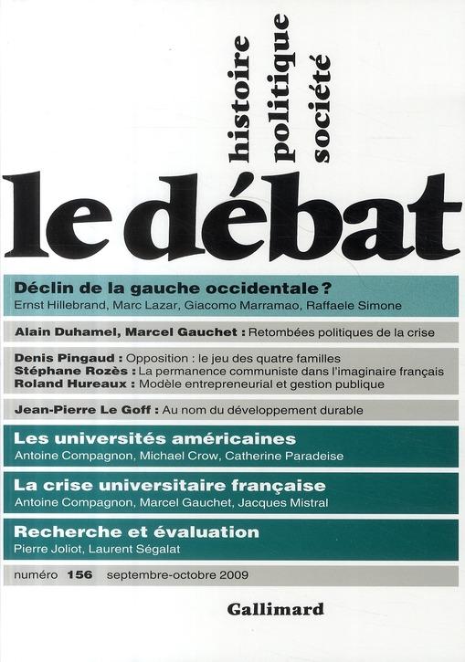 Revue le debat ; histoire, politique et societe