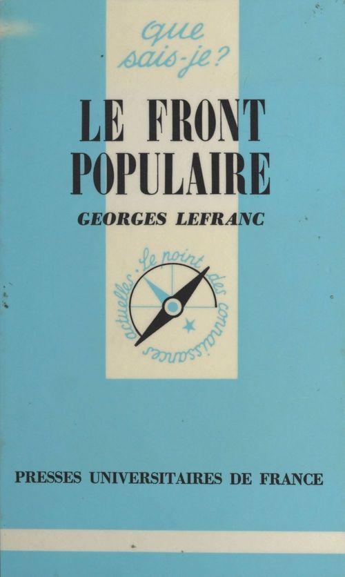 Le Front Populaire (1934-1938)