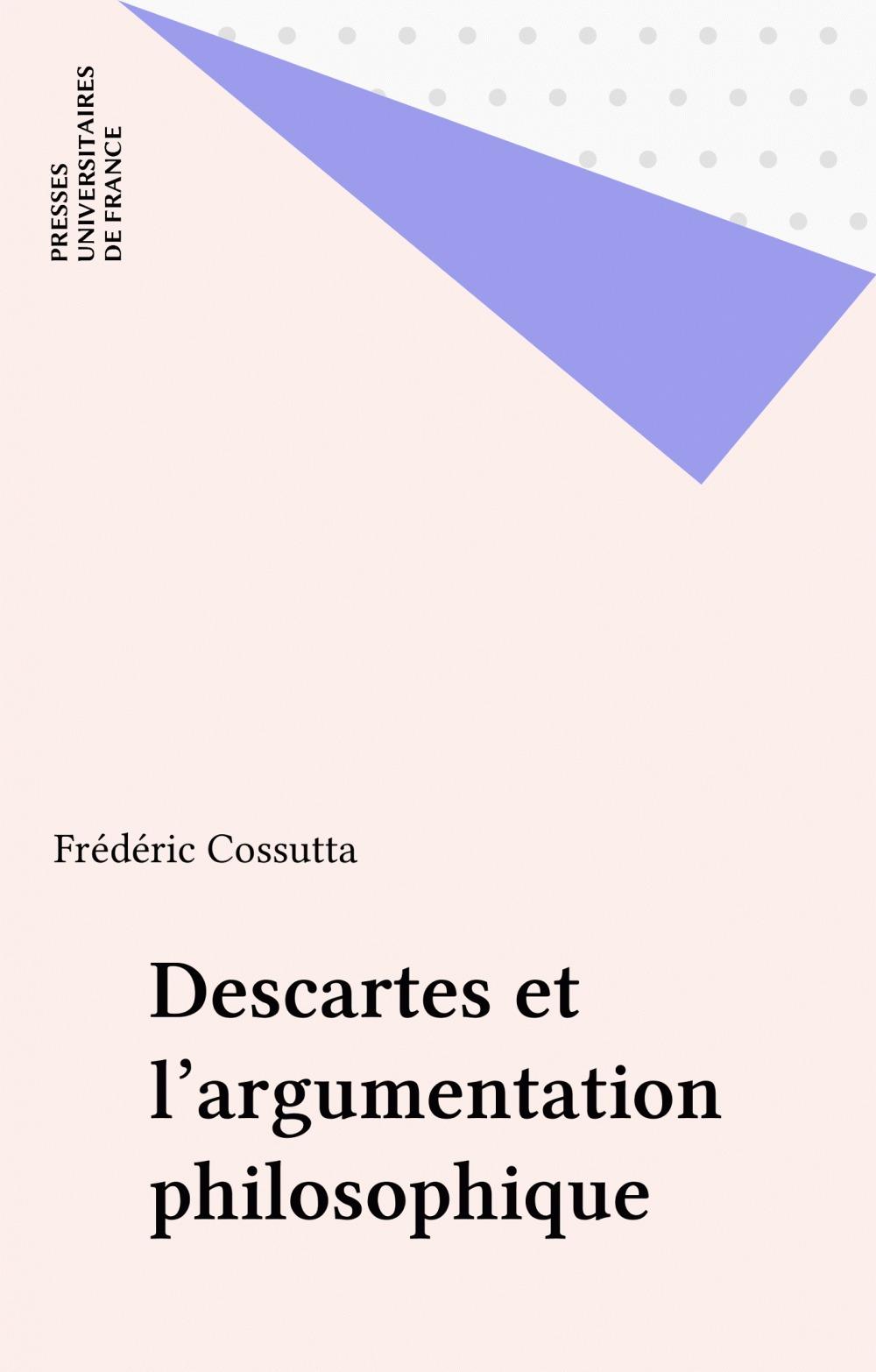 Descartes et l'argumentation philosophique