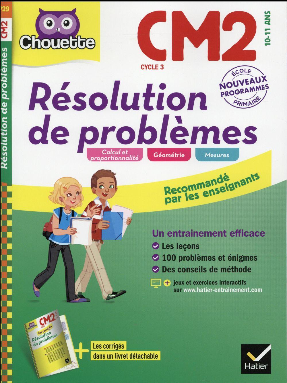 chouette ; résolution de problèmes ; CM2 (édition 2016)