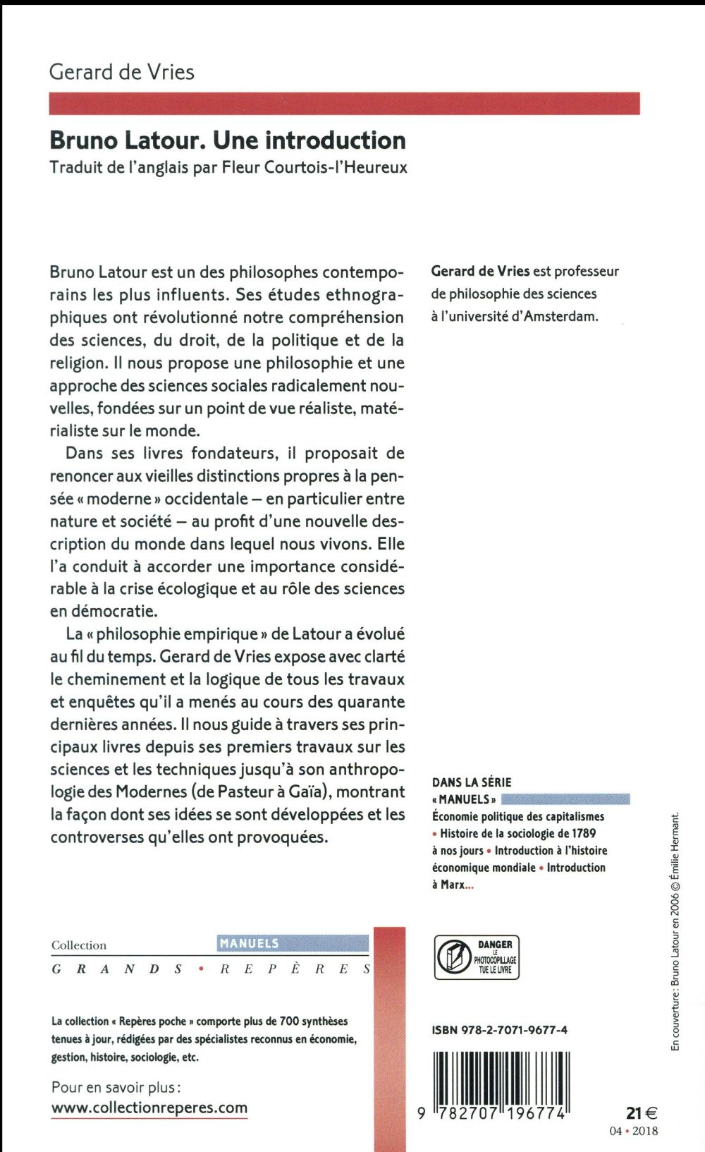 Bruno Latour ; une introduction