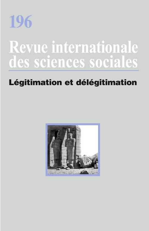 RISS T.196 ; légitimation et délégitimation