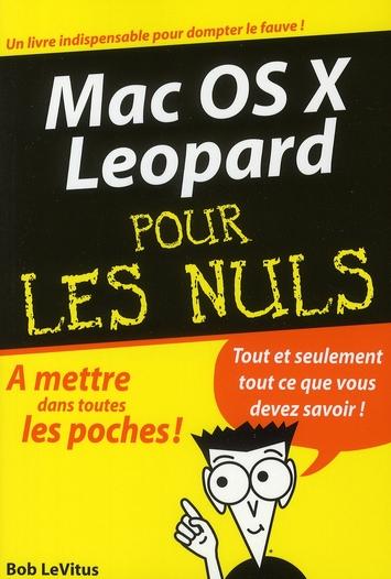 Mac Os X Leopard Poche Pour Les Nuls