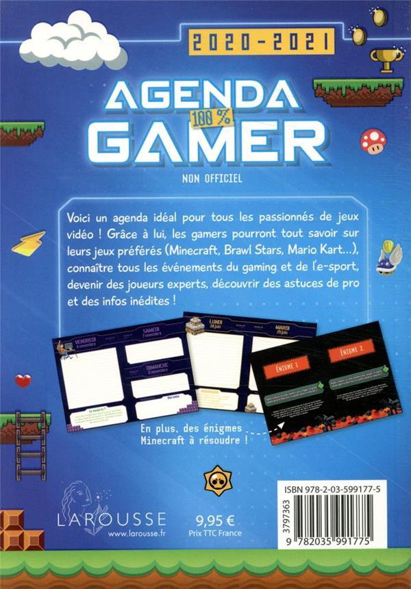 Agenda 100% gamer (édition 2020/2021)