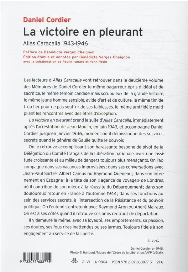 La victoire en pleurant : alias Caracalla 1943-1946