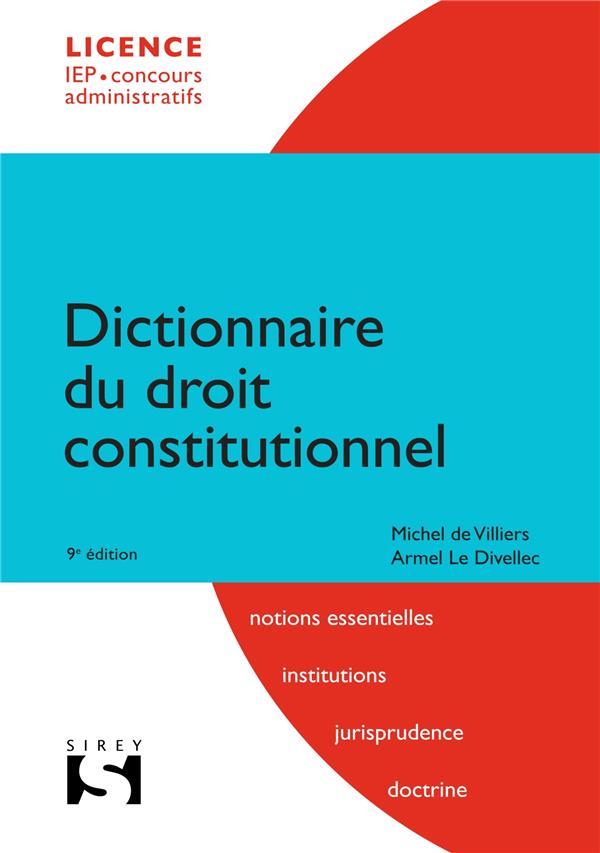 Dictionnaire du droit constitutionnel (9e édition)