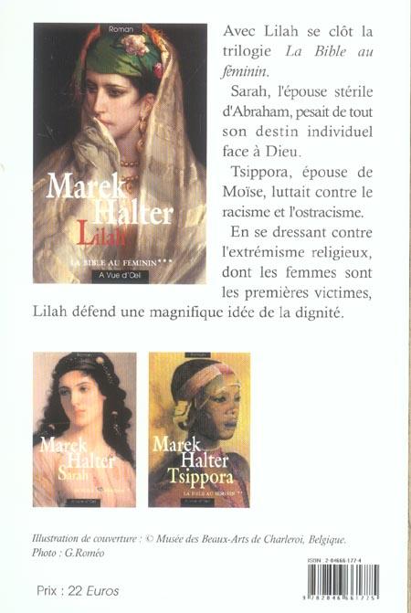 La bible au féminin t.3 ; Lilah