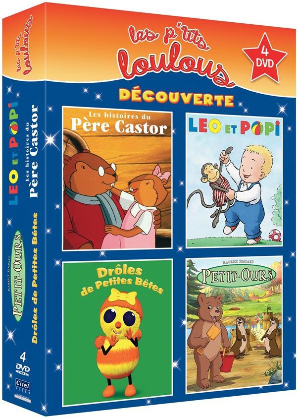 P'tits Loulous Découverte : Léo et Popi + Drôles de petites bêtes + Petit-Ours + Père Castor