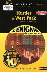 Couverture de L'enigme des vacances college ; murder in west park ; de la 4ème à la 3ème