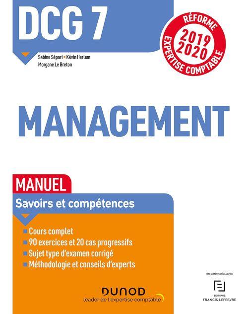 DCG 7 ; management ; manuel (édition 2019/2020)