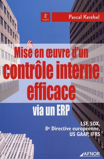 Mise En Oeuvre D'Un Controle Interne Efficace Via Un Erp