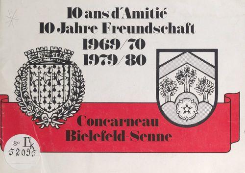 10 ans d'amitié Concarneau Bielefeld-Senne (1969-70, 1979-80)  - Ville de Bielefeld-Senne  - Ville de Concarneau